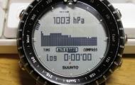 Suunto Core air pressure log