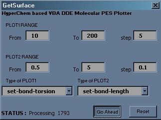 Hyperchem PES Excel macro