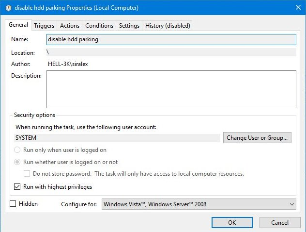 Using hdparm to reduce HDD load/unload cycles on Windows system