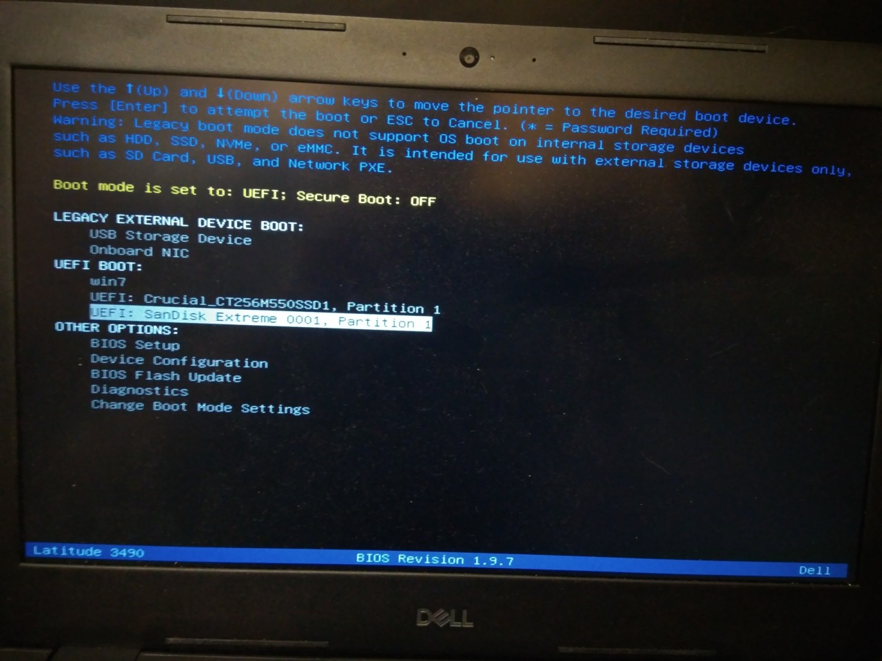 Installing Windows 7 on DELL Latitude 3490 laptop – Koshka