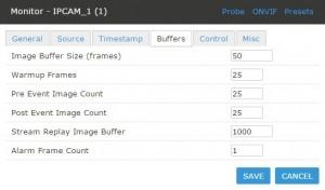 Vstarcam Zoneminder Settings Buffers